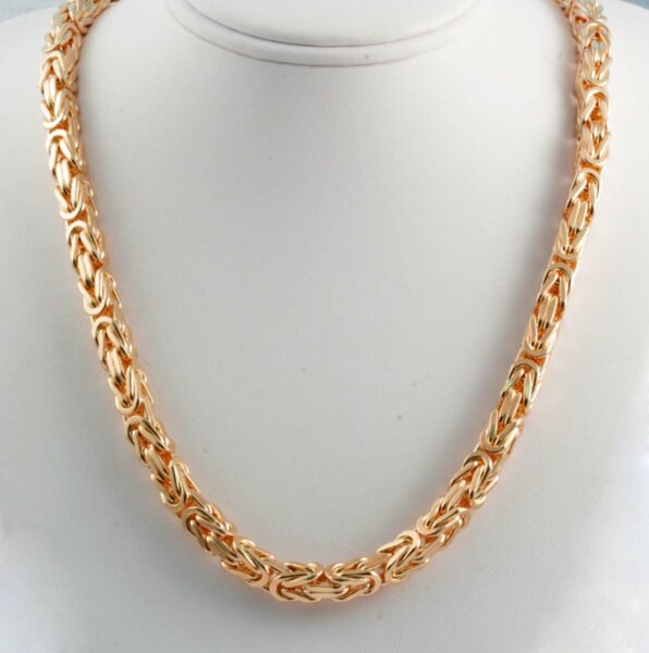 318.50 gm 14k Rose Gold Solid Men's Women's Byzantine Chain Necklace 30