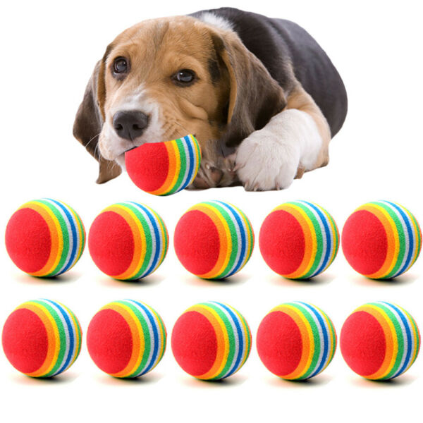 1 10Pcs Small Dog Pets Chew Ball Pet Puppies Tennis Balls Puppy Dogs Play Toys $2.05
