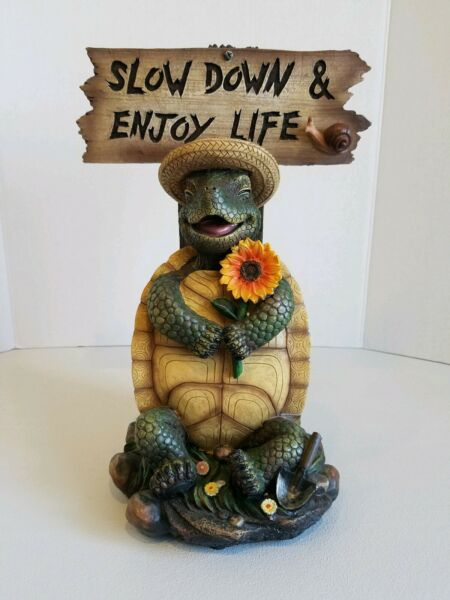Patio and Garden Decoration Turtle Slow Down and Enjoy Life $45.59