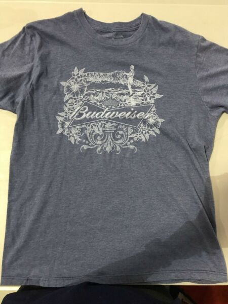 Budweiser Shirt Blue Medium