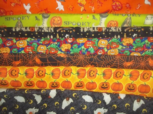 HALLOWEEN ghost pumpkin witch BAT BTY Cotton FABRIC U-Pick See LISTING for INFO