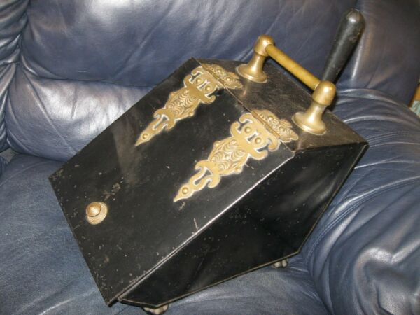 Fire Place Turn of the Century Soot Holder with Shovel and Insert