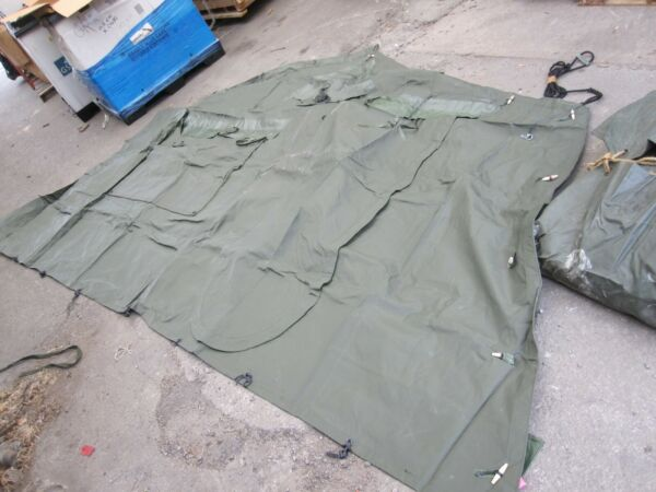 New Military Tent END Section Only OD Green Frame Tent Expandable 16x16 USA
