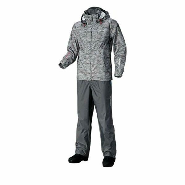 SHIMANO DS Basic Suit RA-027Q Gray Pacific Camo L New