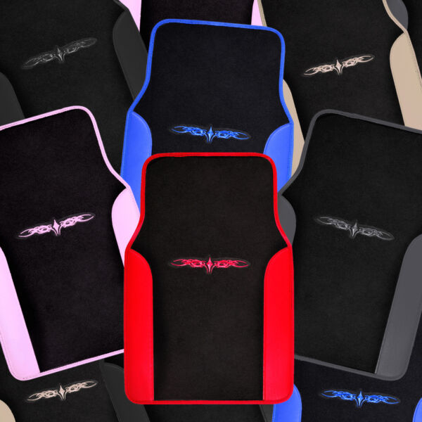 Car Floor Mats 4 Pieces Set Carpet Rubber Backing All Weather Protection $22.70