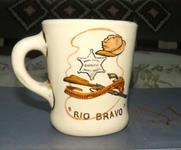 Collectible Rare Vintage Coffee Mug from Rio Bravo movie signed by The Duke