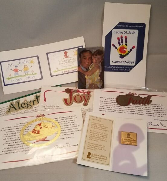 St Jude Children's Hospital lot of Ornaments Magnets Lapel Pin and More LOOK
