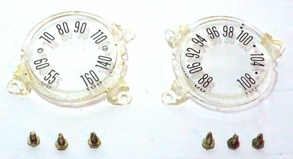 AM + FM FREQUENCY DIAL COVERS for the Vintage Zenith Royal 2000 AM FM Radio