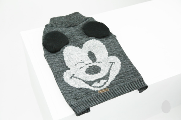 NEW! MICKEY MOUSE DOG CAT KNIT SWEATER w EARS APPLIQUE PREMIUM DISNEY LICENSED