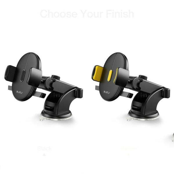RAXFLY Suction Cup Car Phone Holder Dashboard Windshield Retractable Stand $11.69