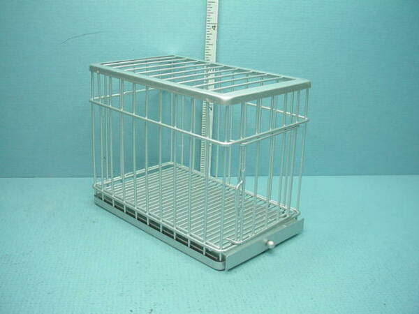 Miniature Dog Cage Large Silver #EIWF308 Town Square Miniatures $22.95