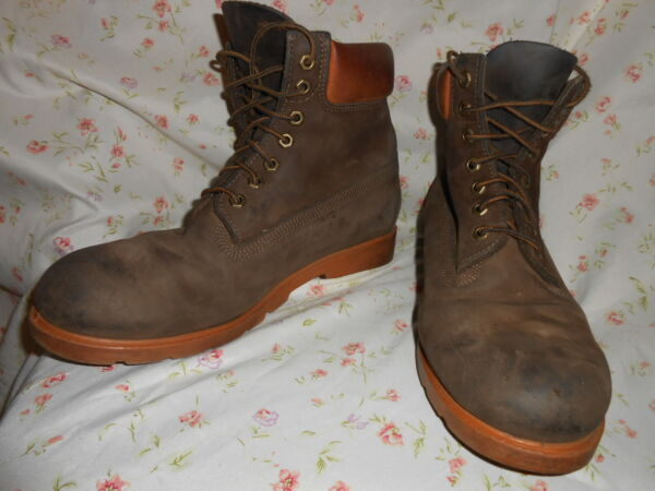 Mens TIMBERLAND Work Boots Size 11M Genuine Leather Upper Brown $48.00