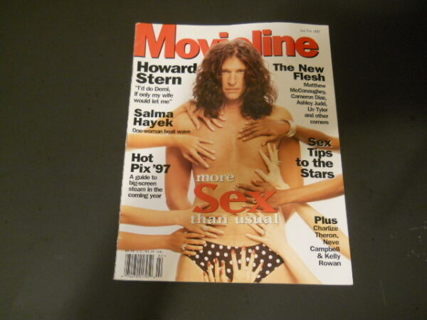 Howard Stern Salma Hayek - Movieline Magazine 1997