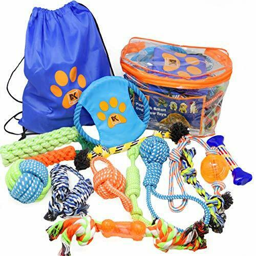Dog Toys - Set of 13 Dog Chew Toys for Puppy and Small Dogs  BK $21.95