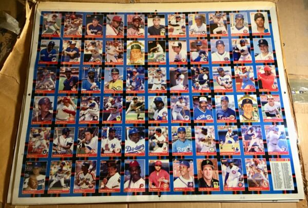 11 UNCUT SHEETS BASEBALL PROOF COLOR TRANSPARENCIES 1988 DONRUSS
