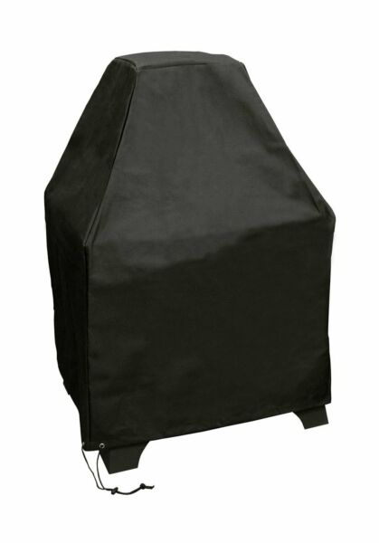 Landmann Redford Outdoor Fireplace Cover Black Polyester With Pvc Lining