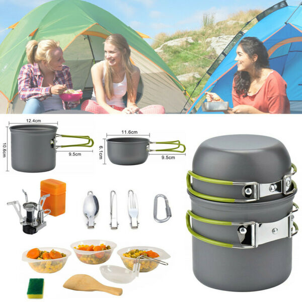 Portable Gas Camping Stove Butane Propane Burner Outdoor Hiking PicnicCookware $28.06