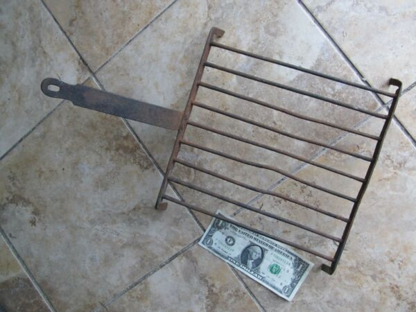 Nice Antique Hand Made Fireplace Cooking Grate Americana Kitchen Trivet c1820