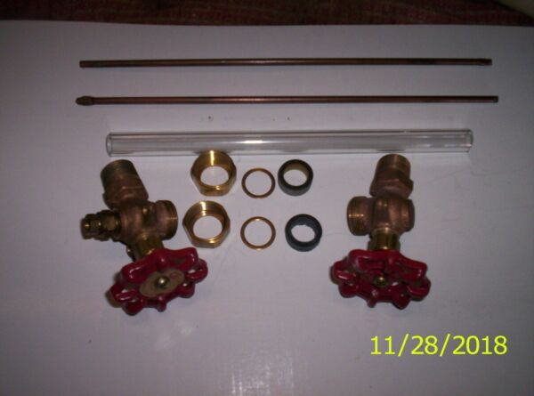 Steam Boiler Sight Glass Valve Set Complete with 8quot; sight glass USA $79.95