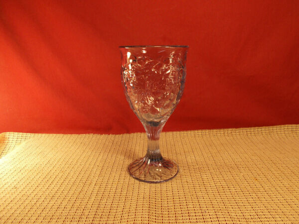 Noritake Crystal Arbor Light Blue Pattern Water Goblet 7
