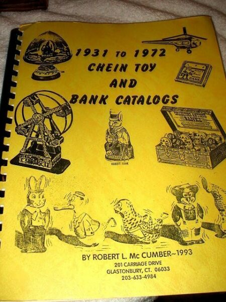 VINTAGE 1931 J CHEIN PAILDRUM TOY HISTORY & BANK CATALOGS BOOK OUT-OF-PRINT OOP