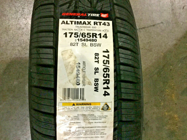 2 New 175 65 14 General Altimax RT43 Tires