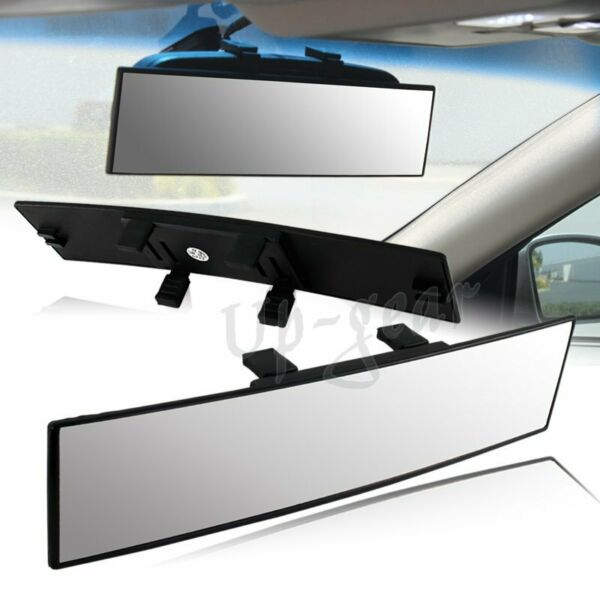 Universal 300mm Wide Curve Convex Interior Clip On Panoramic Rear View Mirror $9.40