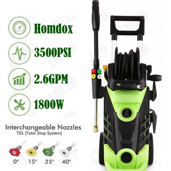 3500PSI 2.8GPM Electric Pressure Washer High Power Auto Jet Cleaner Machine Kit.