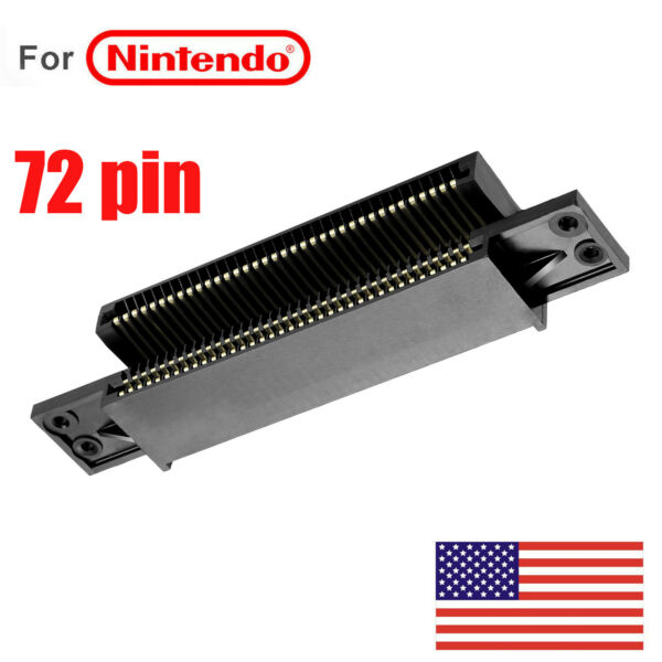 72 Pin Connector Replacement Cartridge Slot For Nintendo NES Console 8Bit System