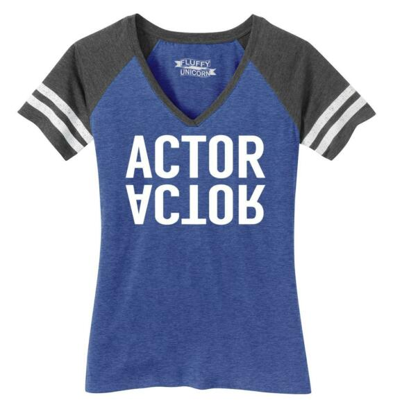 Ladies Actor Game V-Neck Tee Work Movie