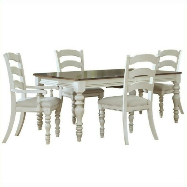 Hillsdale Pine Island 5 PC Dining Set with Ladder Back Chairs