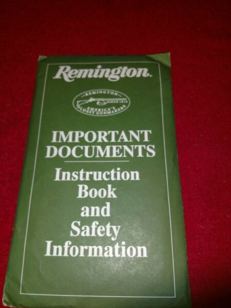 Original Remington 700 Stainless 300 Rifle Instruction Owners Manual Kit Sealed