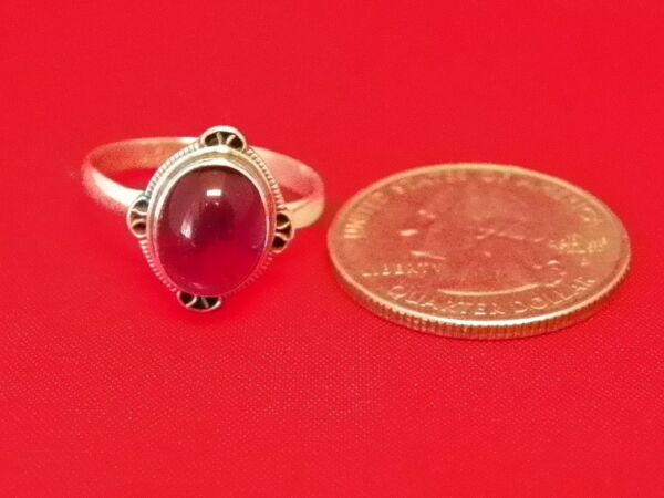 R22 3 GORGEOUS STERLING SILVER RING WITH HUGE STONE HAND MADE IN NEPAL $24.99