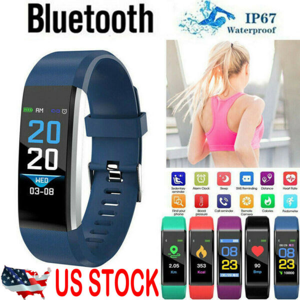 Fitness Smart Watch Activity Tracker WomenMen Kids Fitbit Android iOS Heart Rate