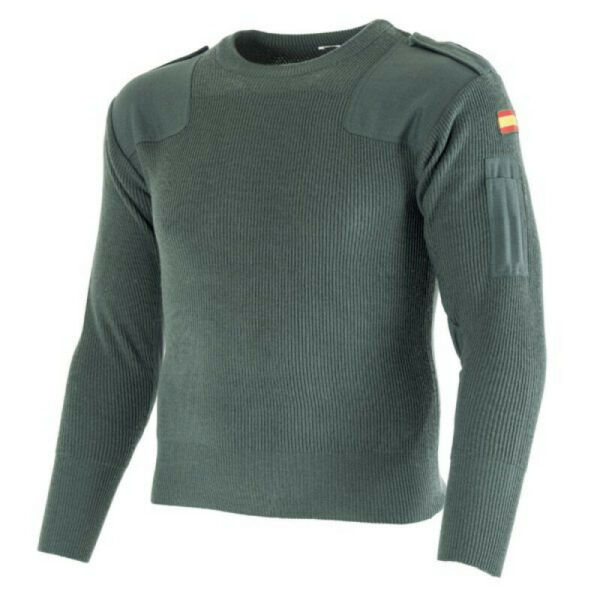 Spanish Army Infantry Commando Sweater Tight Weave Wind Breaking Insulating