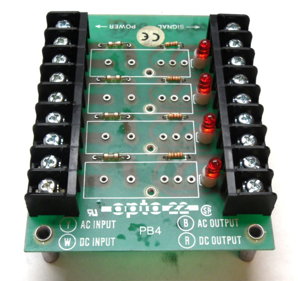 NEW OPTO 22 PB4 CHANNEL OUTBACK RACK $19.90