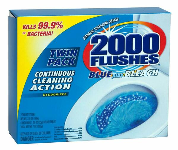 New!!! 2000 Flushes Automatic Toilet Bowl Cleaner 3.5 oz TWIN PACK Tablet 208017 $9.99