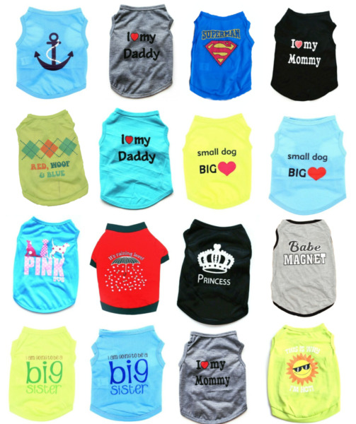 Small Pet Dog Cat Summer Shirts Vest Clothes Cute Puppy T Shirt Coat Apparel USA $7.96