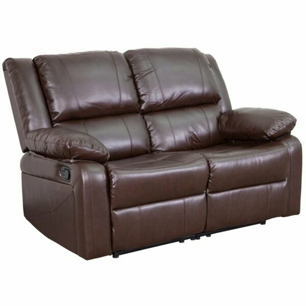 Flash Furniture Harmony Leather Reclining Loveseat in Brown $614.92
