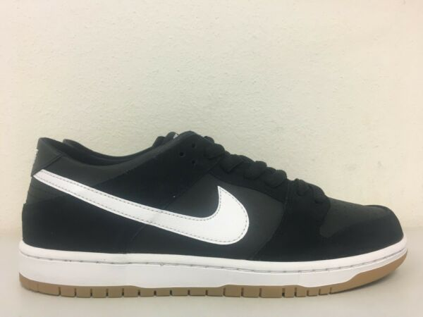 Nike SB Zoom Dunk Low Pro Black Gum Sole 854866 019 Mens Size 12