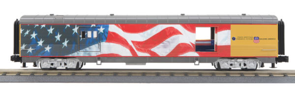 MTH RailKing Union Pacific Flag 60' Streamlined Baggage Passenger Car 30-68127