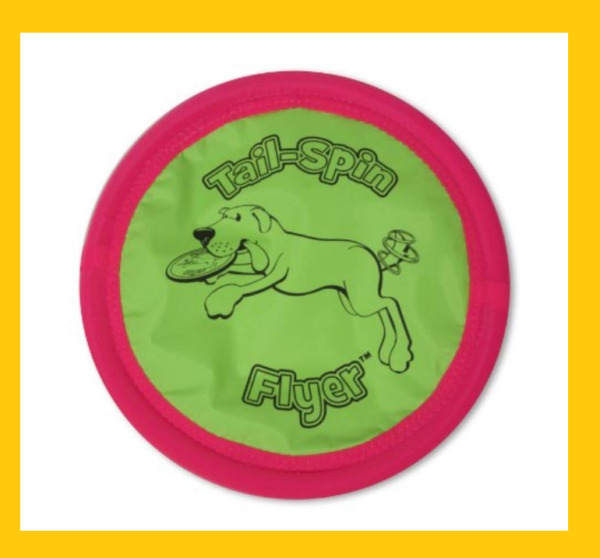 Tail-Spin Flyer lightweight flexible for  pets to catch soft frisbee for dogs