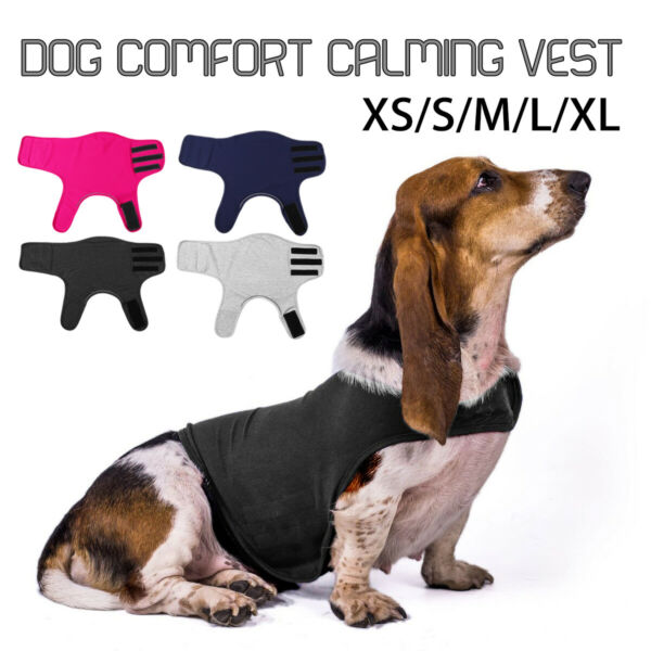 Dog Calming Vest Pet Emotional Appeasing Jacket Comfort Cotton Anxiety All Size $16.70