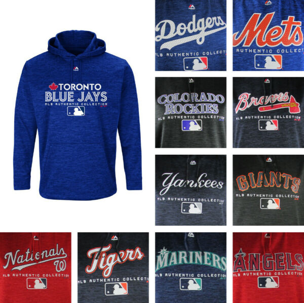 MLB Big amp; Tall Men#x27;s Pull Over Majestic Hoodie Multiple Teams Available