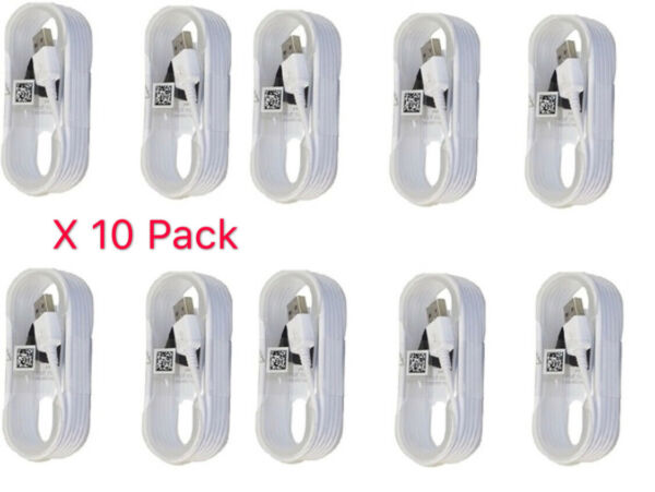 10 Pack OEM Micro USB Cable 5FT Fast Charger for Samsung Galaxy Note 4 5 S6 S7