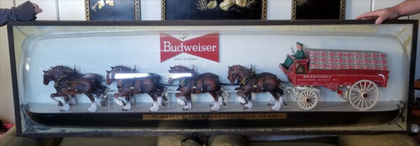 Budweiser Beer 6 Foot World Champion Clydesdales Advertising Beer Sign