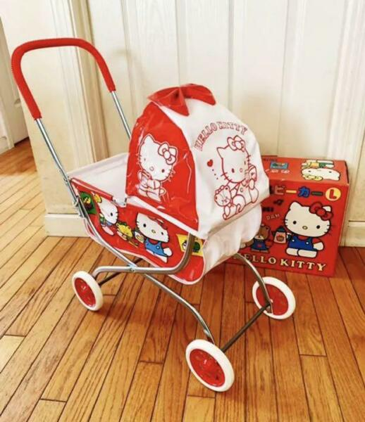 HELLO KITTY TOY STROLLER VINTAGE SIZE LARGE L 1991 MODEL COLLECTIBLE JAPAN ANIME $537.70