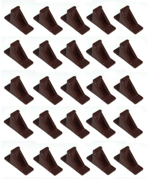 Brown Plastic Mini Roof Snow Ice Guard 25 PK Prevent Sliding Snow Stop Buildup $29.25