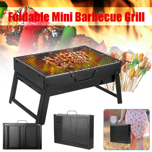 BBQ Barbecue Grill Folding Portable Charcoal Stove Camping Garden Outdoor Mini K