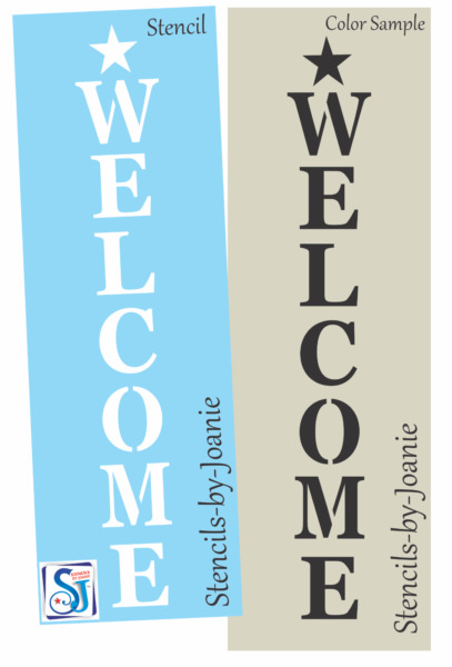Joanie 12quot; Stencil Welcome Country Star Vertical Family Home Prim Signs U Paint $12.95